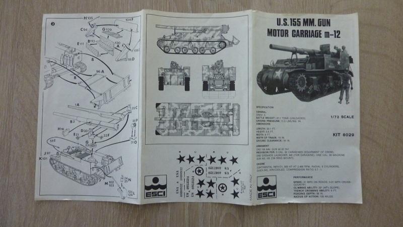 Unboxing: Esci 8029, M12 Gun Motor Carriage 155mm 051-pl10