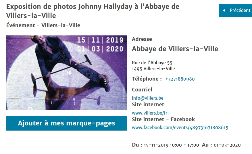 Expo Johnny pour nos amis Belges Screen13
