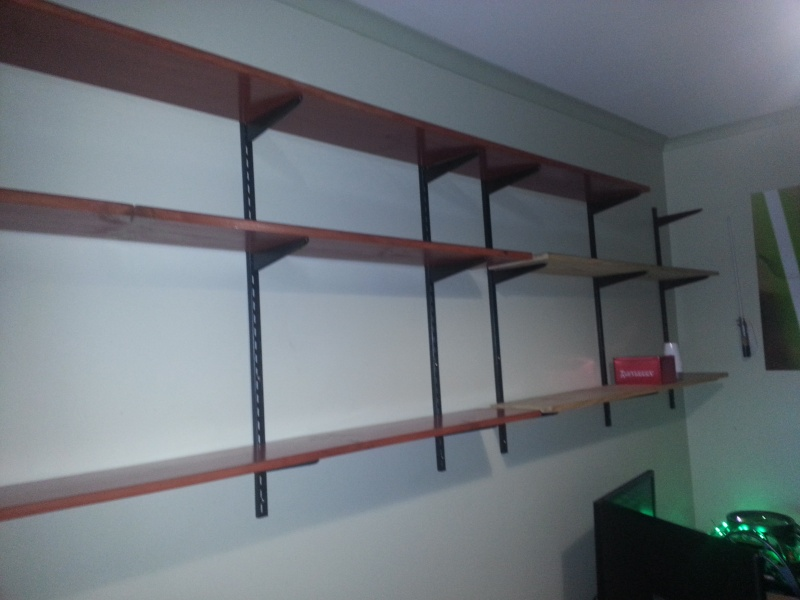 My not so empty completed new shelf 2013-010
