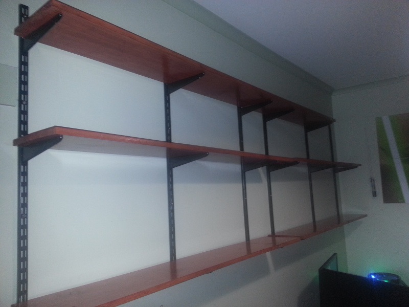 My not so empty completed new shelf 2013-011