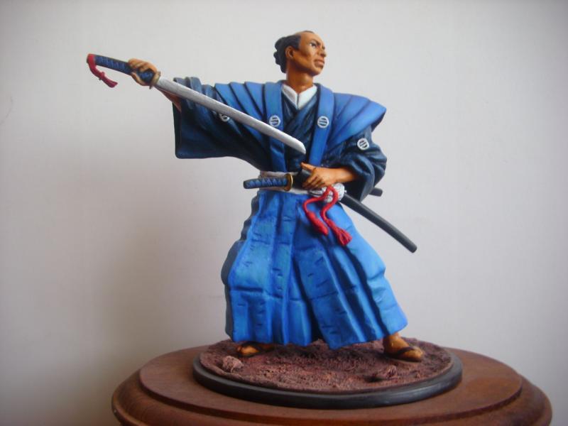 Samurai in Kimono und Hakama K800_d29