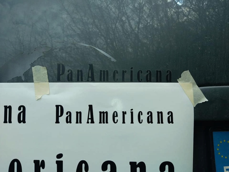 sticker ecriture panamericana 15634910