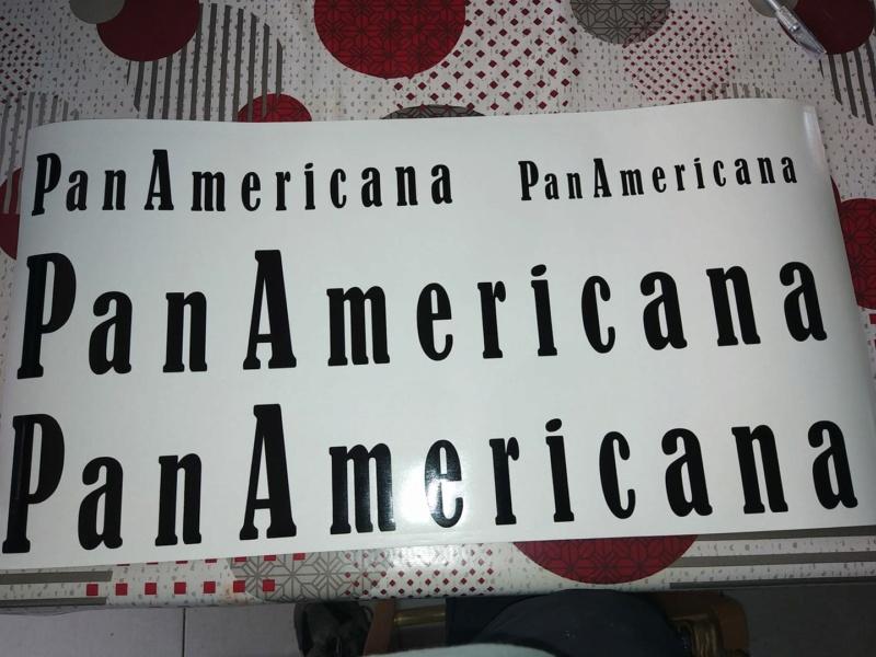 sticker ecriture panamericana 15694110
