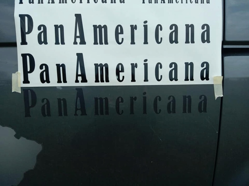 sticker ecriture panamericana 15694111