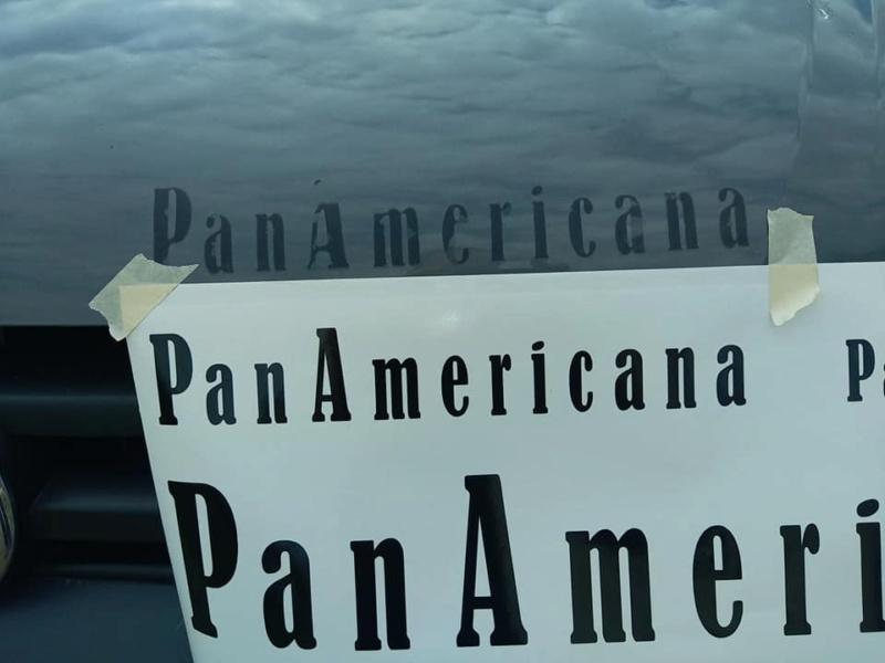 sticker ecriture panamericana 15721610
