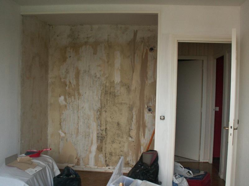 chambre à aménager entièrement: peinture, disposition et placard