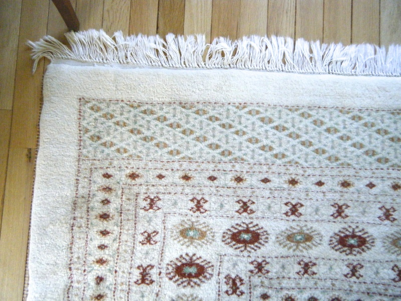 Large Ivory Colored Boukara Rug -- 10' x 14' FOR SALE Dscf8615