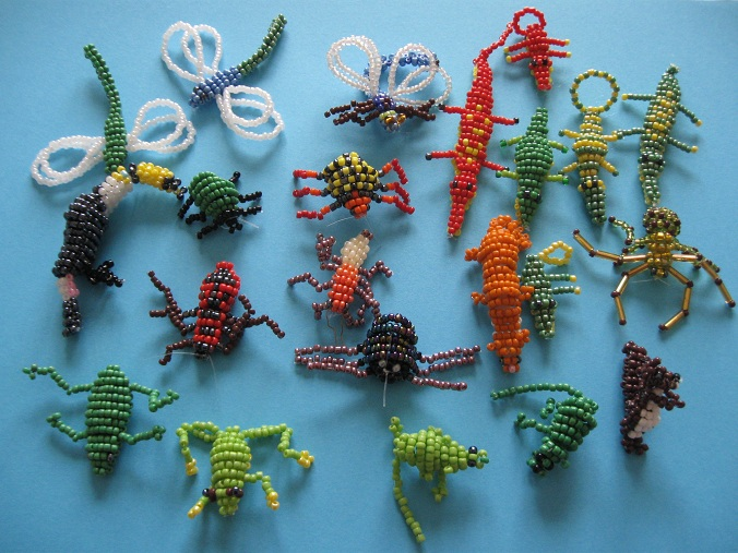 Crocodiles et salamandres en perles Perles12