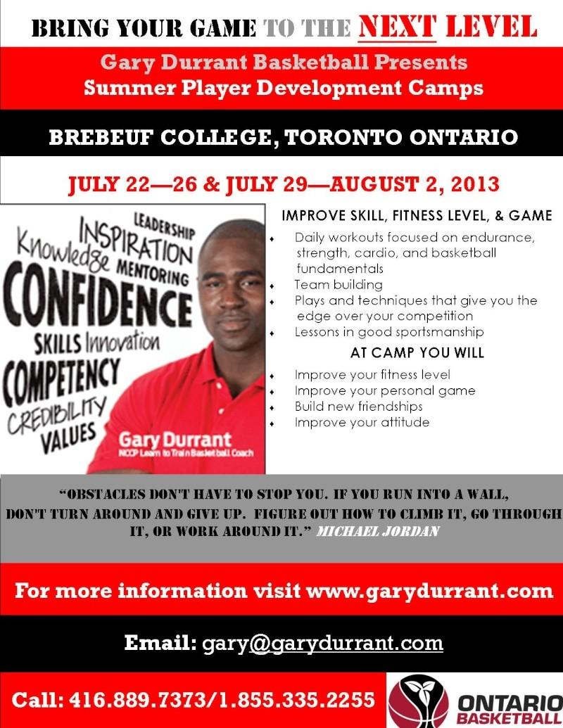 Gary Durrant- Summer Player Development Camps Toront12