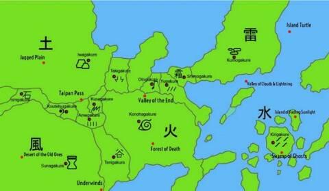 Narutoverse: Ninja World Map