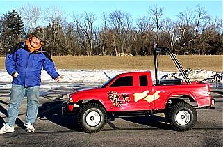World's Smallest Jet Powered Dodge Dakota Monster Truck Dieter10