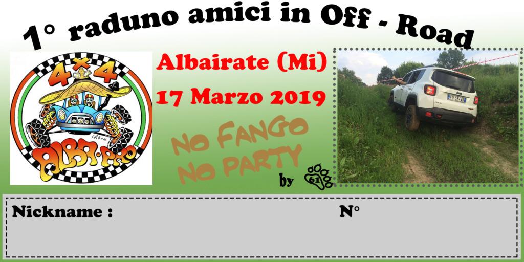 17 MARZO 19 1° Raduno Amici in Off Road Milano Albairate Adesiv10
