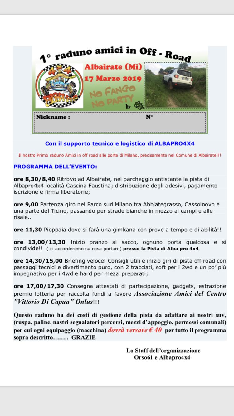 17 MARZO 19 1° Raduno Amici in Off Road Milano Albairate Img_6310