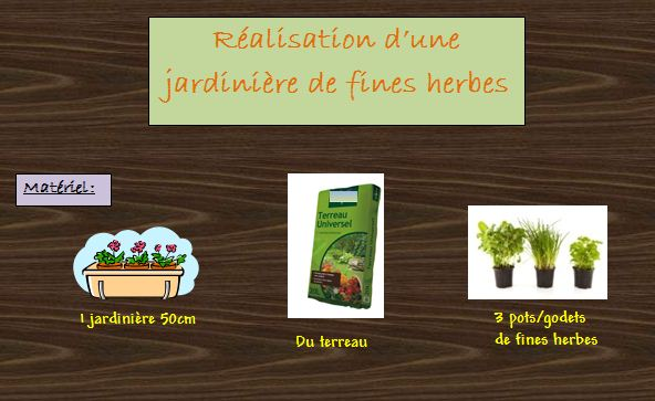 Fiche Réalisation d'une jardinière de fines herbes...  Fine_h17