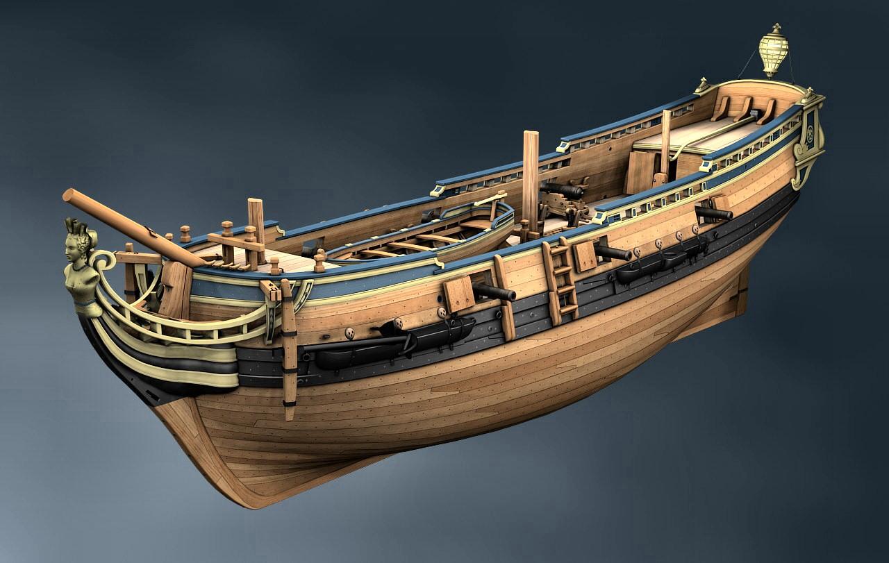 Canons de vaisseau 74 canons (Création 3D) par Greg_3D - Page 5 _belle10