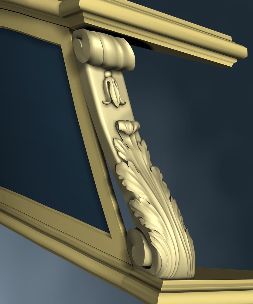 Modèle de La Belle, en 3D par B. Huc Acanth21