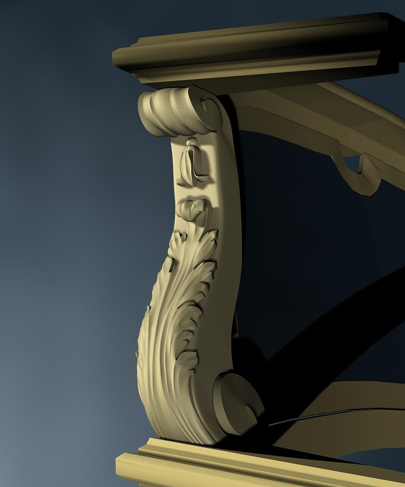 Modèle de La Belle, en 3D par B. Huc Acanth23