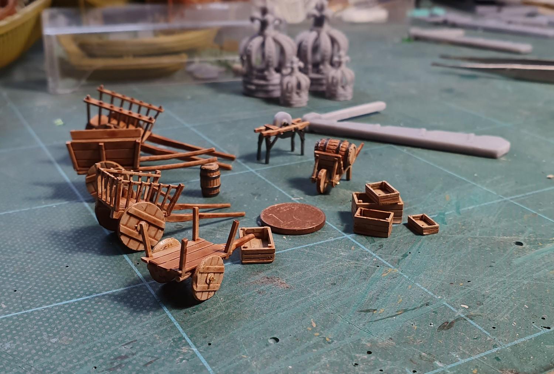 Un kogge médiéval et divers objets de la même époque Brou410