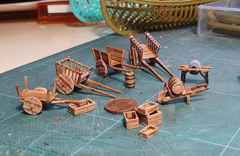 Un kogge médiéval et divers objets de la même époque Brou510