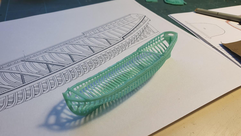 Canot d'un vaisseau du XVIII ème en 3D et en résine Canot010