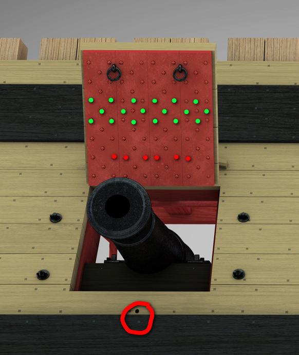 Canons de vaisseau 74 canons (Création 3D) par Greg_3D - Page 7 Mantel10