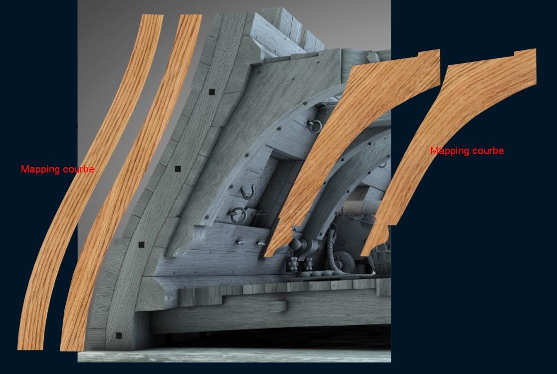 Canons de vaisseau 74 canons (Création 3D) par Greg_3D - Page 9 Textur10