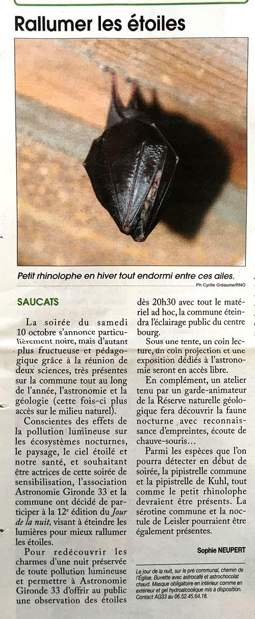 LE JOUR DE LA NUIT samedi 10 octobre 2020 à Saucats  Jour_n13