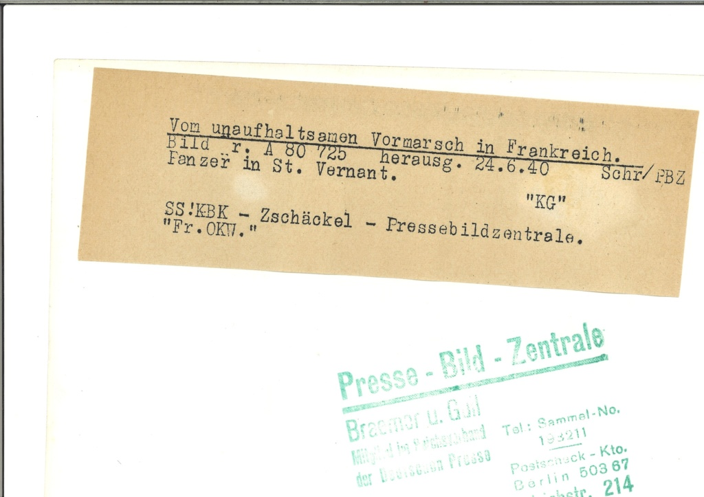 """Photo de Presse """"SS""""' Germania / Das Reich dans le Pas-de-Calais. 3179_010"""