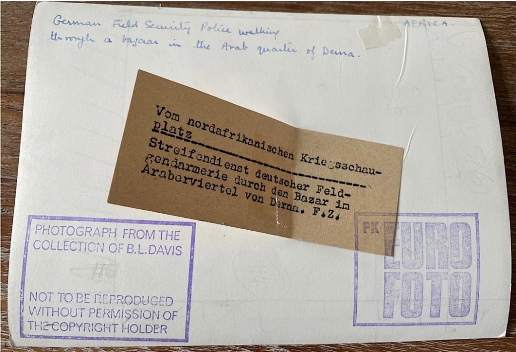 Identification Afrika Korps Libye  6338f810