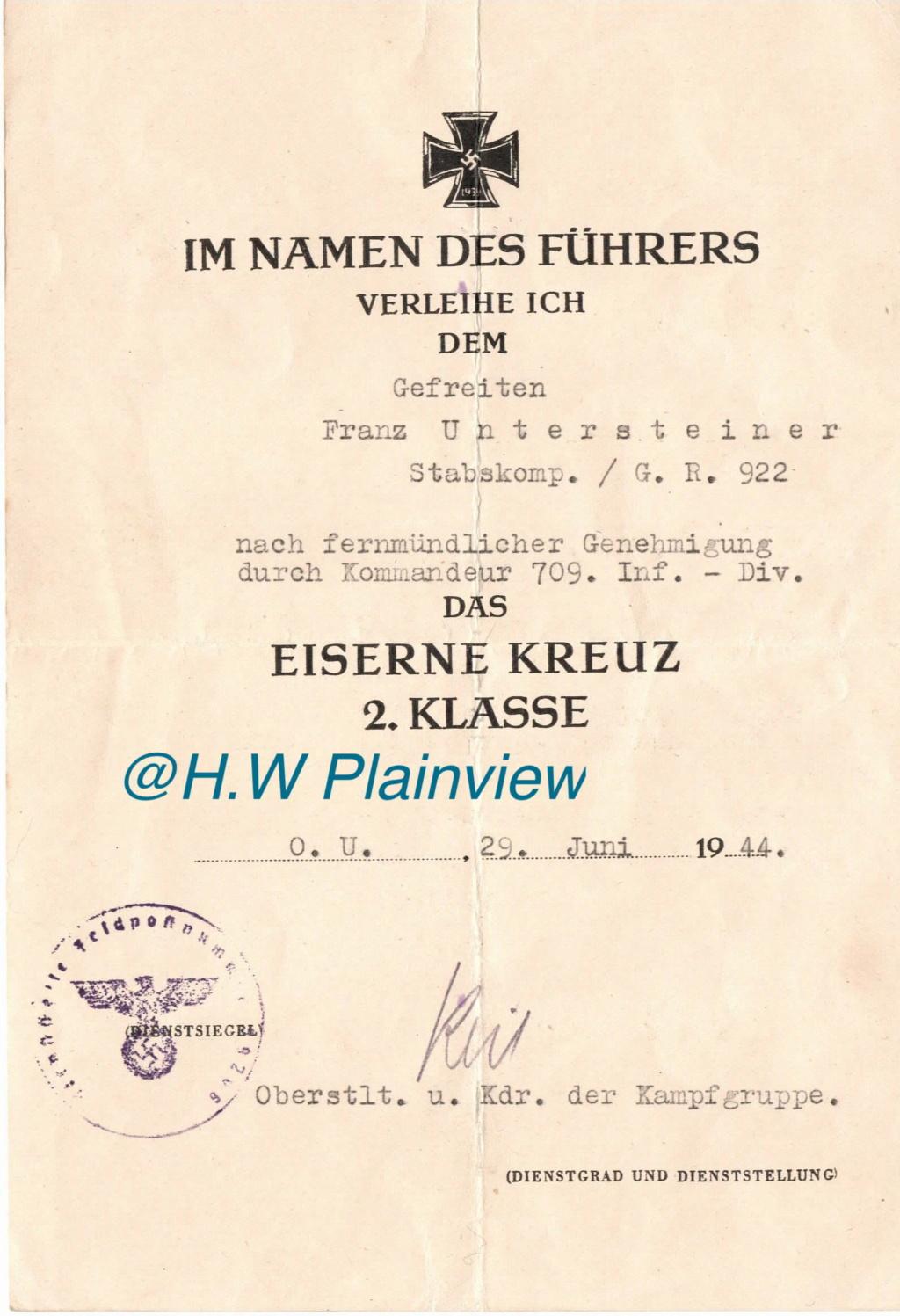 Diplome EK2 / Kampfgruppe Cherbourg Juin 1944 ! Utah_b14