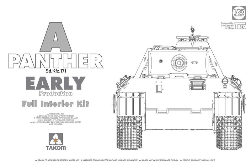 Panther A Early 1/35 [Takom 2097] Box11