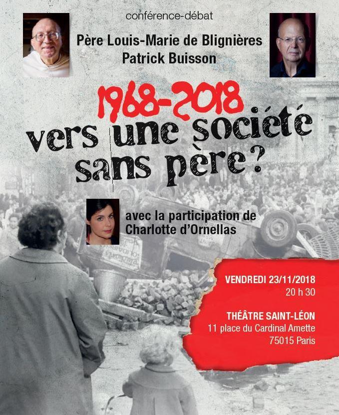 """""""1968-2018 : Vers une société sans père?"""" Vers_u10"""