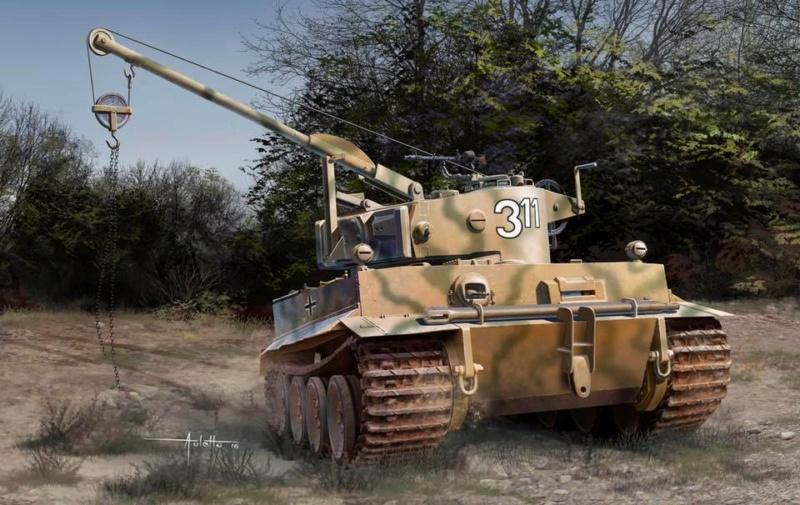 LE BERGEPANZER TIGER 1 SdkfZ 185 de CMK Ech 1/35 Royal_10