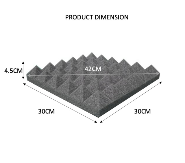 CAV Acoustic Small Pyramid Foam 1pcs (New) 311