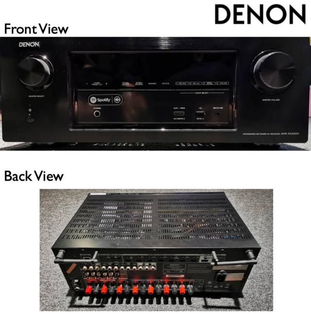 Denon AVR-X2300W 7.2ch Full 4K Ultra HD AV Receiver (Used) Avr-x211