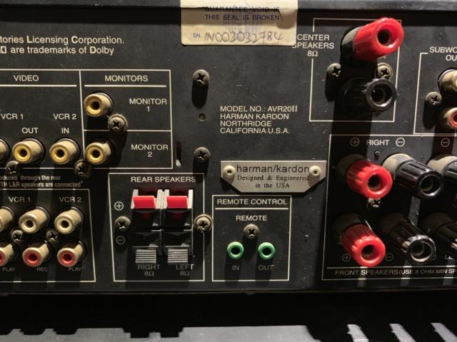 Harman Kardon AVR 20ii AV Stereo Receiver Home Theater(used) Img_0726