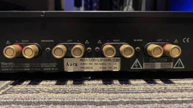 Aura AUV-100 LS Integrated Amplifier (Used) SOLD Img_1636