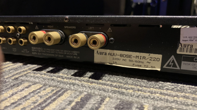 Aura AUV-80 SE Integrated Amplifier (Used) SOLD Img_1637