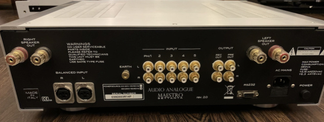 Audio Analogue Maestro Settanta REV 2.0 Integrated Amplifier (Used) Img_1728