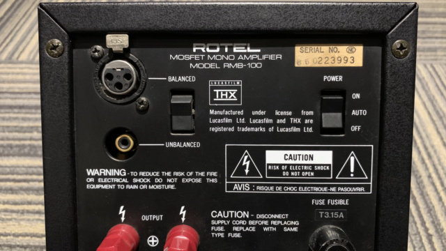 ROTEL RMB-100 Mono Amplifier 1pc Only (Used) Img_1740