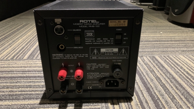 ROTEL RMB-100 Mono Amplifier 1pc Only (Used) Img_1741