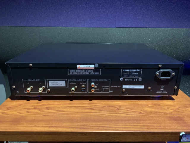 Marantz CD6004 CD Player (used) SOLD Img_1811