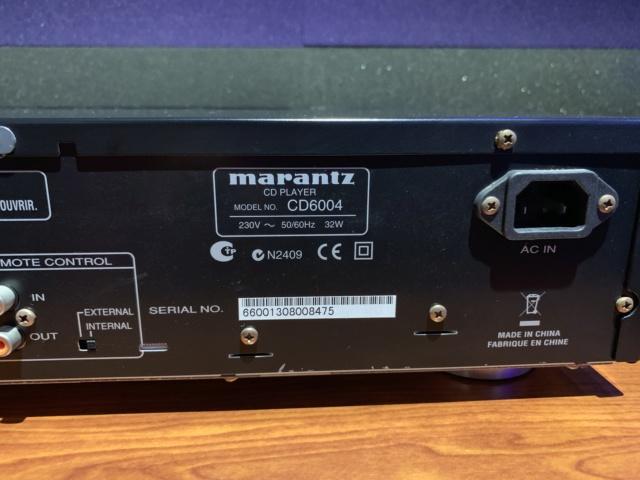 Marantz CD6004 CD Player (used) SOLD Img_1812