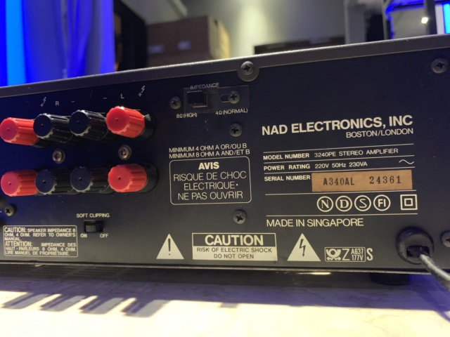 NAD 3240PE Stereo Integrated Amplifier (Used) SOLD Img_2215