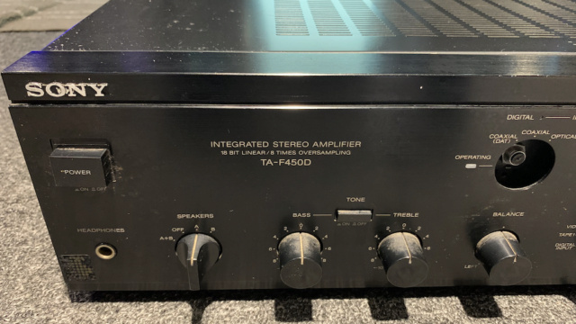 Sony TA-F 450D Digital Stereo Amplifier Made in Japan (Used) Img_2219