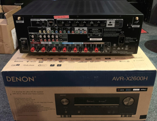 Denon AVR-X2600H 7.2 channel 4K Ultra HD AV Receiver (Used) Img_2922