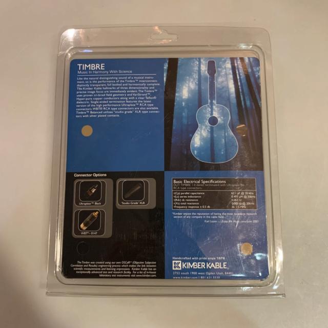 Kimber Hero XLR Cable 1.5m Pair (Used) Img_3110