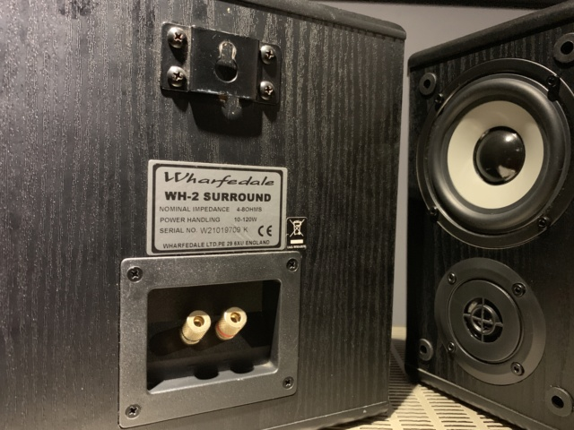 Wharfedale WH-2 Bipole Surround Speakers (Used) Img_3220