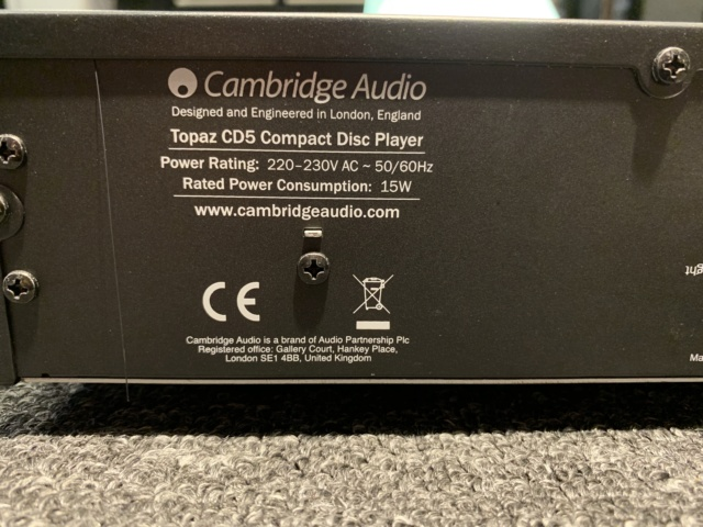 Cambridge Audio CD5 CD Player (3 month warranty) (Used) SOLD Img_3623