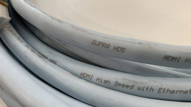 Supra HD5 HDMI Cable Made in Sweden 12m (Used)  Img_3919